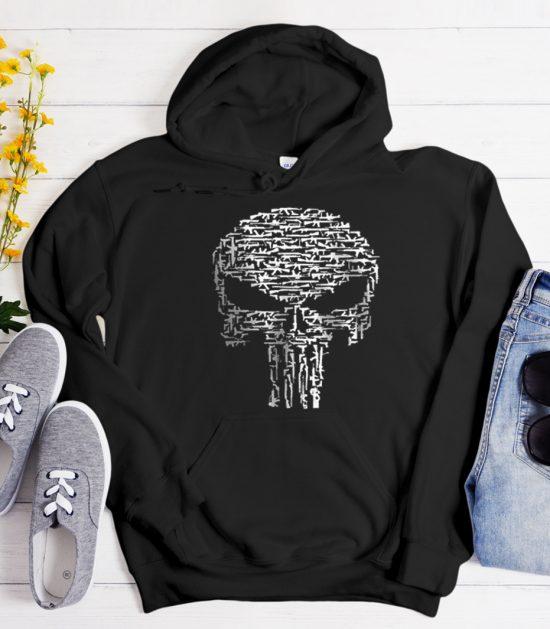 Punisher Gun Skull Cool Trending graphic Hoodie