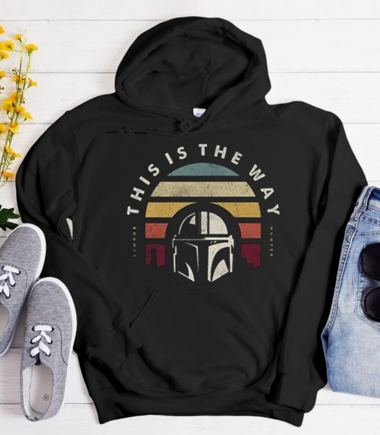 Retro Vintage This is the way Mandalorian Cool Trending graphic Hoodie