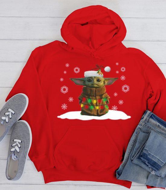 Santa Baby Yoda Cool Trending graphic Hoodie