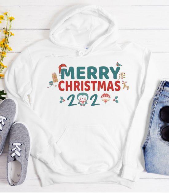 Santa Snowman Christmas 2020 Cool Trending graphic Hoodie