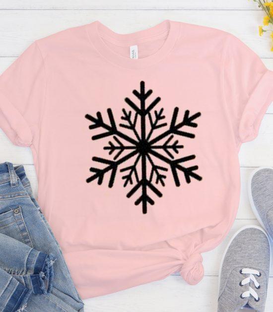 Snowflake Christmas Cool Trending graphic T Shirt