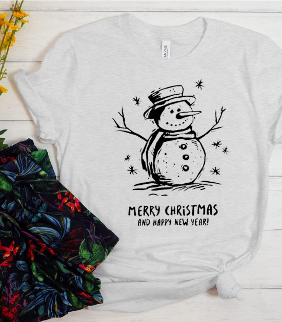 Snowman Merry Christmas Cool Trending graphic T Shirt