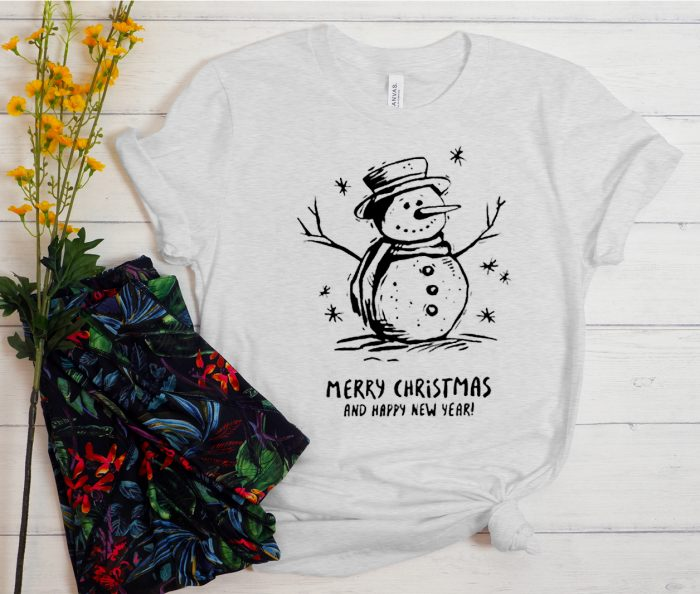Snowman Merry Christmas Cool Trending graphic T Shirt