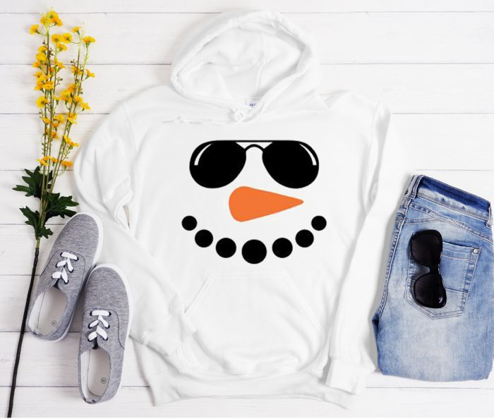 Snowman face Cool Trending graphic Hoodie