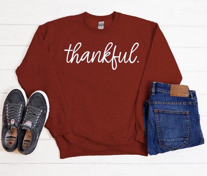 Thankful Thanksgiving Cool Trending Sweatshirt