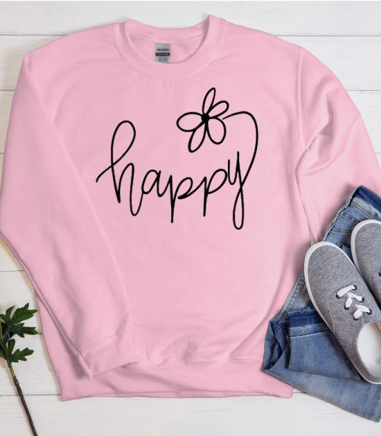 Choose Happy Cool Trending graphic Sweatshirt