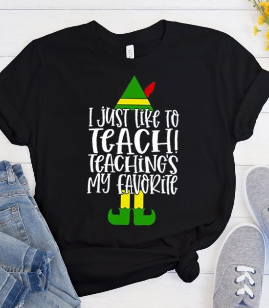 Elf Teacher Christmas Cool Trending graphic T Shirt