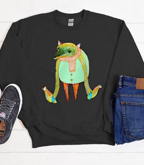 Fox with Chickens Cool Trending graphic Sweatshirt