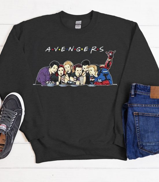 Funny avengers Friends Parody Cool Trending graphic Sweatshirt