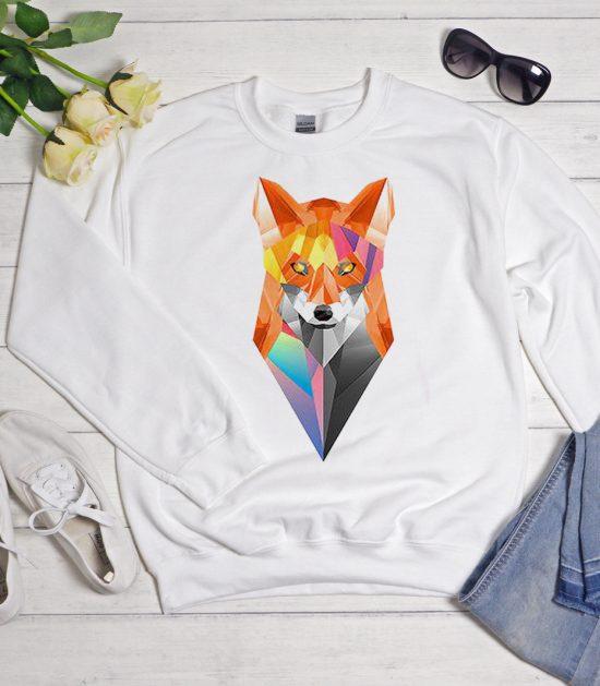 Geometric Fox Cool Trending graphic Sweatshirt