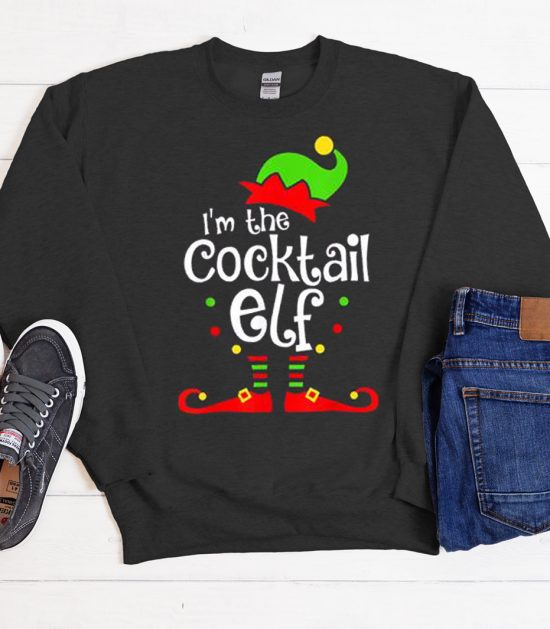 I'm The Cocktail Elf Cool Trending graphic Sweatshirt