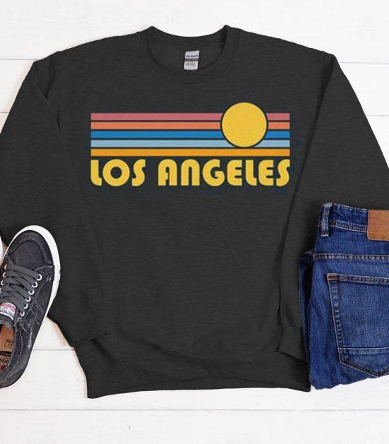 Los Angeles - Retro Sunset Cool Trending graphic Sweatshirt