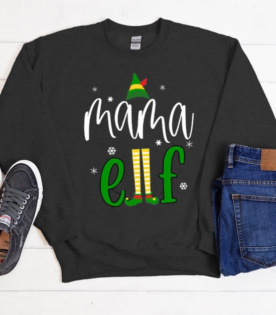 Mama Elf Cool Trending graphic Sweatshirt