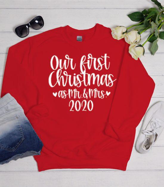 Mr and Mrs Christmas Cool Trending graphic Sweatshirt