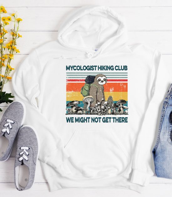 Mushroom MyCologist Hiking Club graphic Hoodie