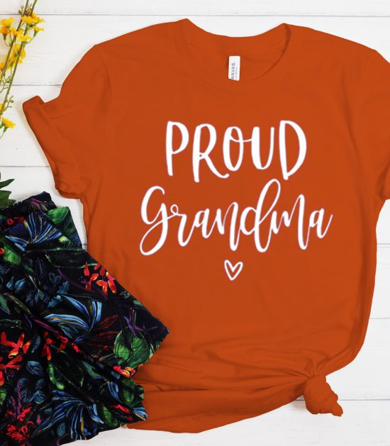 Proud Grandma graphic T Shirt