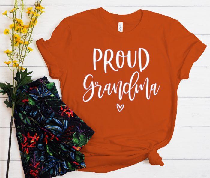 Proud Grandma graphic T Shirt