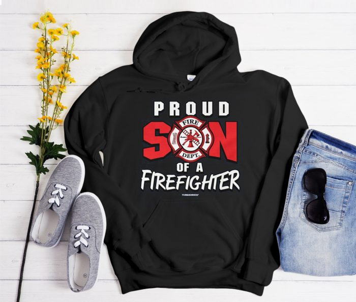 Proud Son of a Firefighter graphic Hoodie
