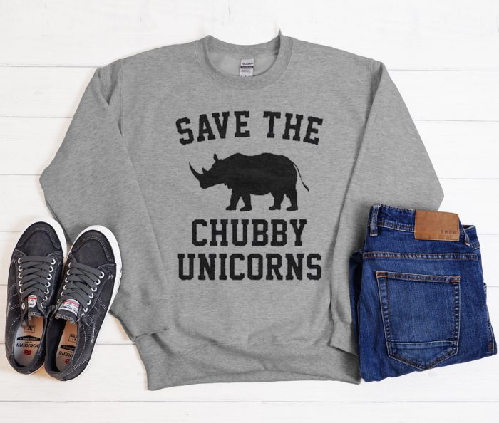 Save the chubby unicorns graphic Sweatshirt