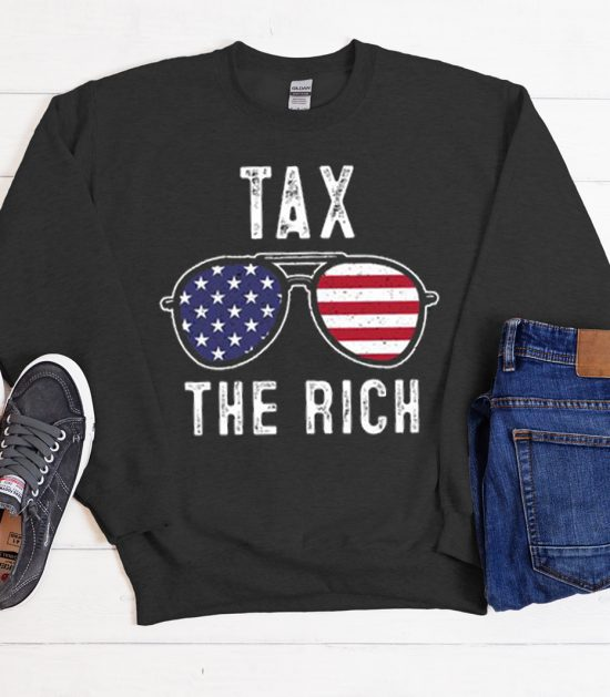 Tax The Rich Black Cool Trending graphic Sweatshirt