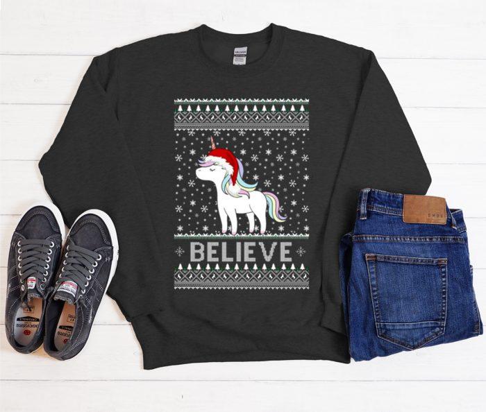 Ugly Unicorn Christmas graphic Sweatshirt