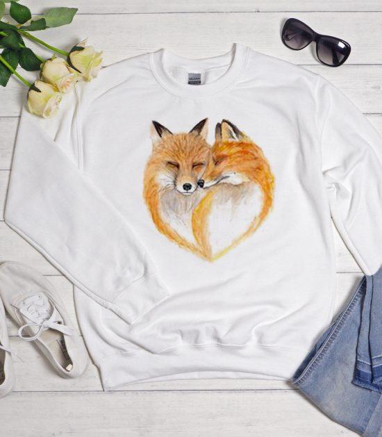 fox in love Cool Trending graphic Sweatshirt