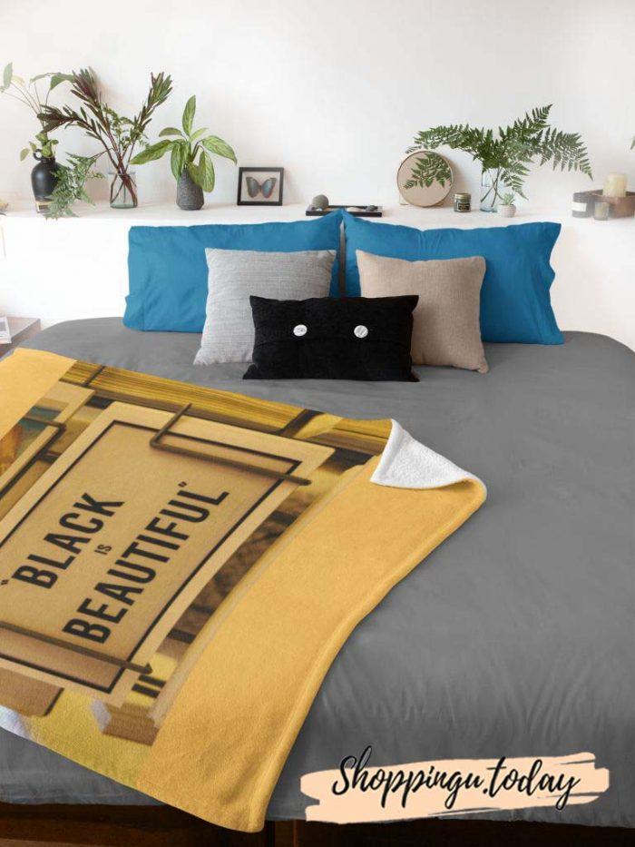 Black Is Beautiful Cute Graphic Blanket