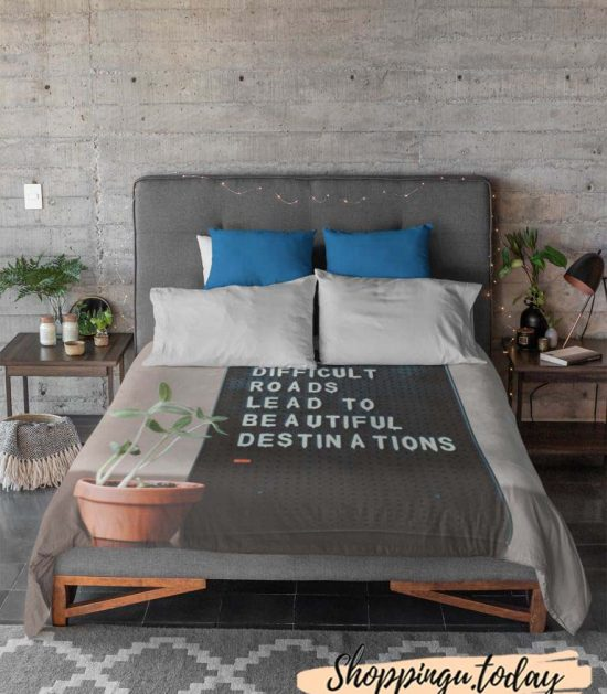Difficult Roads Lead to Beautiful Cute Graphic Blanket