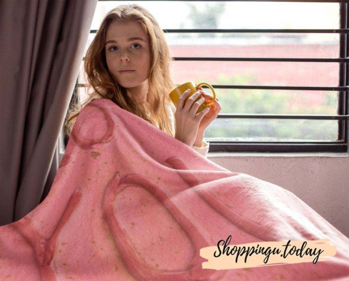 I Love You Cute Graphic Blanket