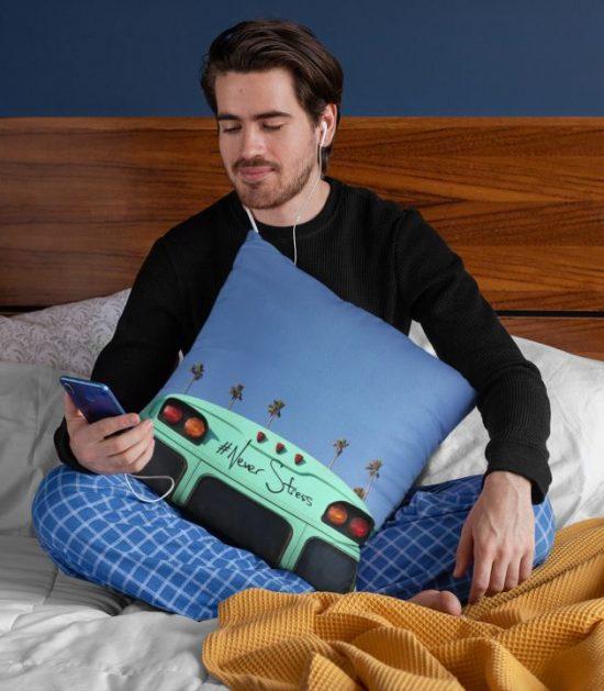 Never Stress Cute Pillow Case