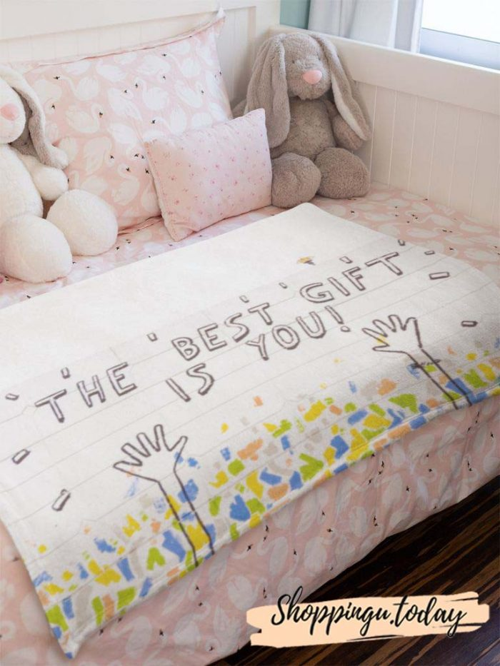 The Best Gift is You Cute Graphic Blanket