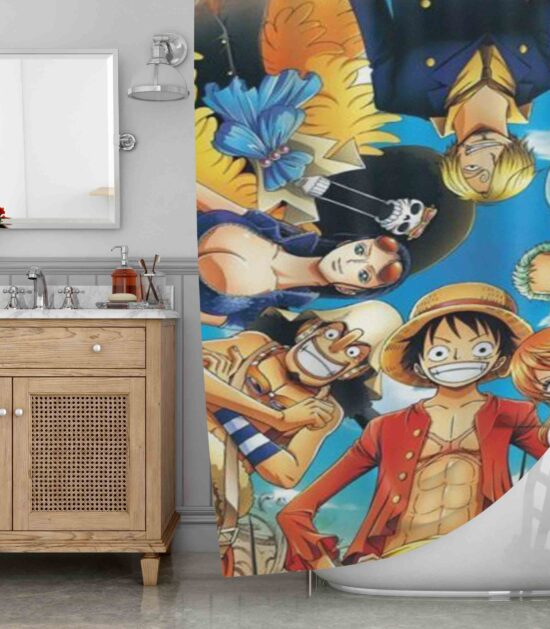 Anime One Piece Strong World Shower Curtain