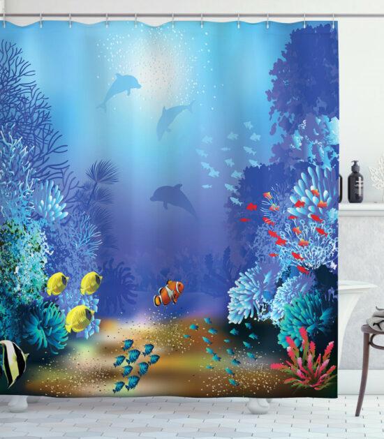 Beautiful Sea Life Shower Curtain