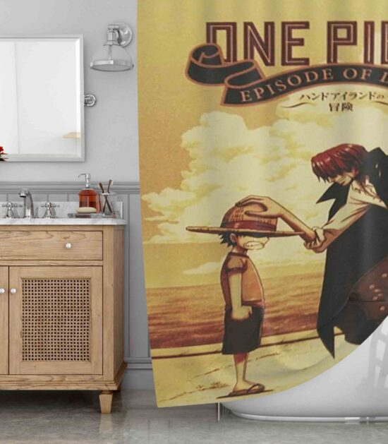Classic Anime One Piece Shower Curtain