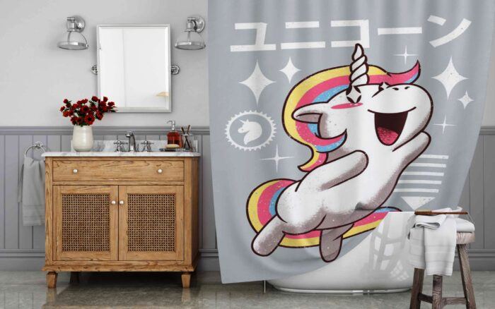 Dancing Cute Unicorn Shower Curtain