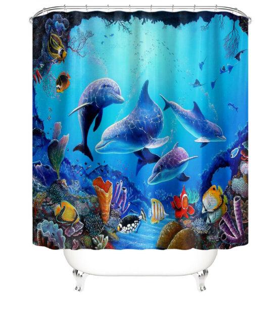 Dee Sea Life Shower Curtain