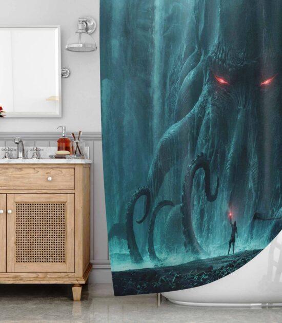 Deep Sea Monster The Kraken Shower Curtain