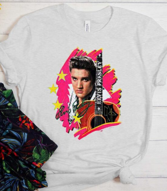 Elvis Presley The King Vintage With Guitar T-Shirt