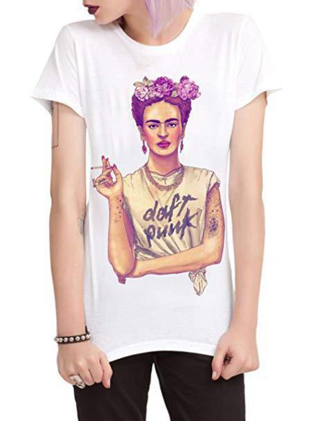 Frida Kahlo Daft Punk T-shirt
