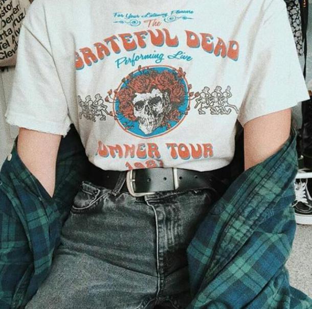 Grateful Dead Summer Tour 1987 T-Shirt Style