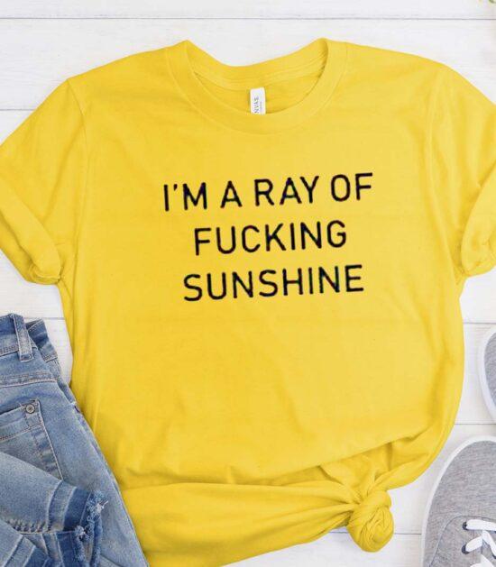 I'm a ray of fucking sunshine tshirt